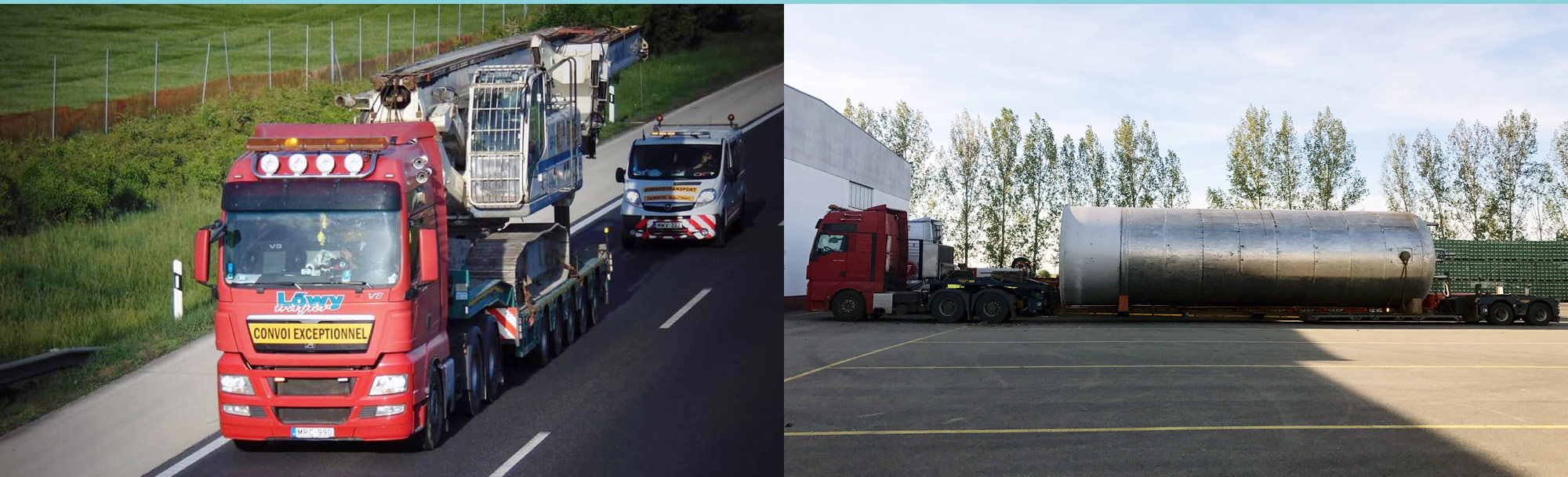 Transport of oversized and overweight vehicles, machines, equipments, heavy transport
